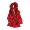 Hampstead red wool scarf