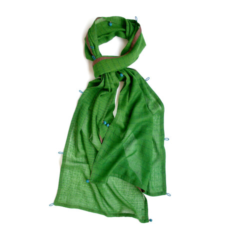 Kew fine wool scarf- wide