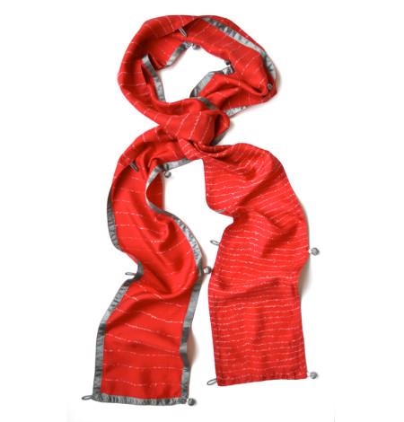 Lyrics narrow silk scarf