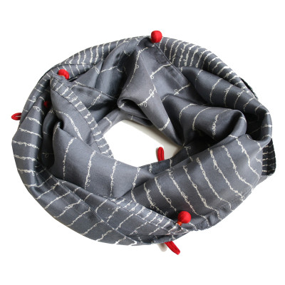 Poem narrow silk scarf