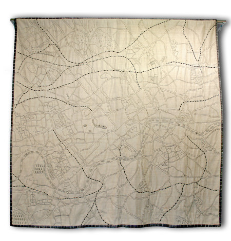 London Map Quilt front