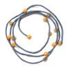 Ochre & grey silk necklace 2