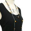 Ochre & Grey silk necklace