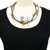 grey+ochre silk necklace 3