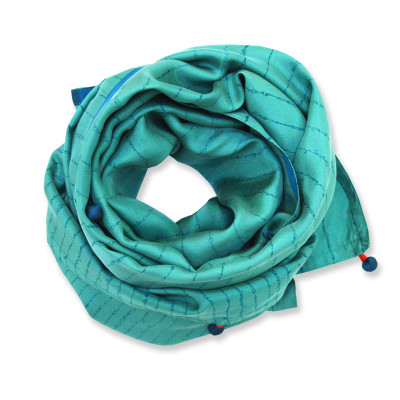 Sonnet silk scarf wide