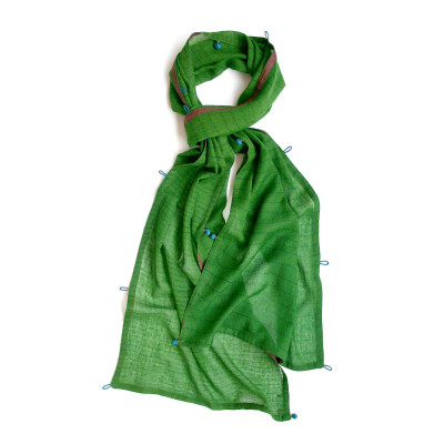 Kew green wool scarf