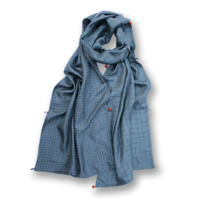 EktaKaul-Battersea-Grey-Silk-Scarf
